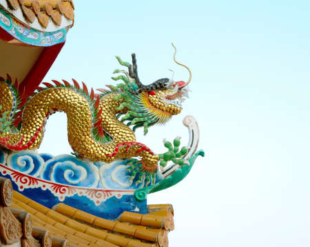 chinese dragon in chineses temple photo