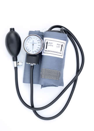 blood pressure meter on white background
