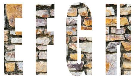 english alphabet a-z a to zStone Wall background