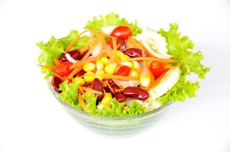 fresh vegetable Salad on white background