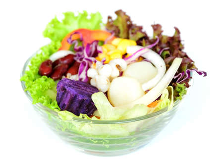 fresh vegetable salad for health Stock Photo
