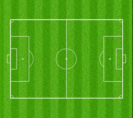 layout: soccer field (layout) Stock Photo