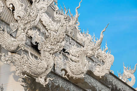 serpents: Wat-Rong-Khun Thai temple in Thailand