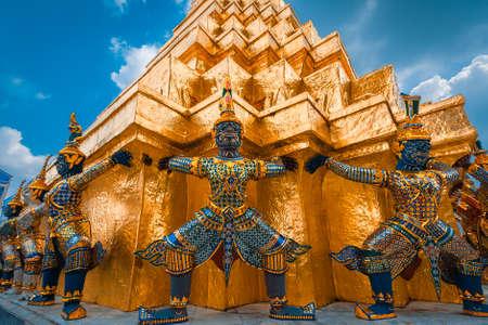 bouddha: Le g�ant du Bouddha d'Emeraude, Bangkok, Tha�lande 2016 Banque d'images
