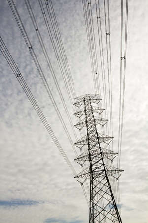 main electricity, main electricity pole on cloudy sky wallpaper. photo