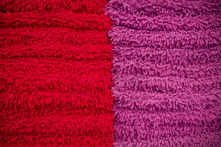 towel, stack of red and purple towel. Stock Photo - 11976777