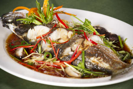 fish soy sauce, snake-head fish steamed with soy sauce