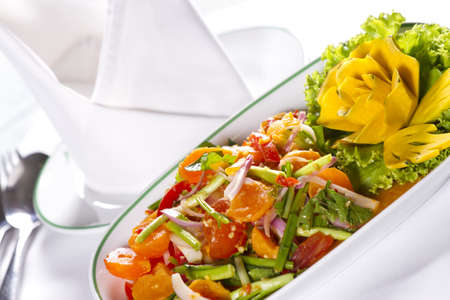 Thai spicy salad, Thai food appetizer style spicy salad Stock Photo - 12946968