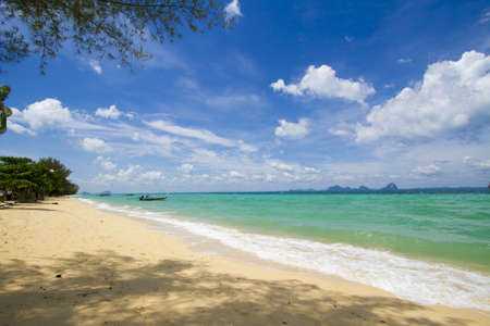 coast line, Andaman sea beach at Krabi, Thailand photo