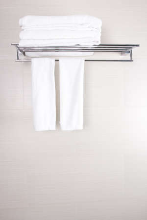 bathroom towels, bathroom accessory new clean towels photo