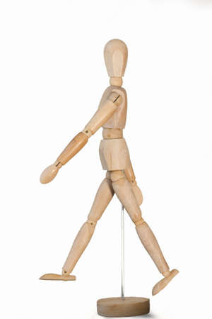 jointed: wooden mannequin, beige wooden jointed mannequin action walking