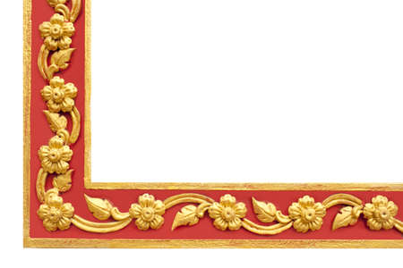Thai Frame, Thai Style Golden And Red Craft Corner Frame Painted ...