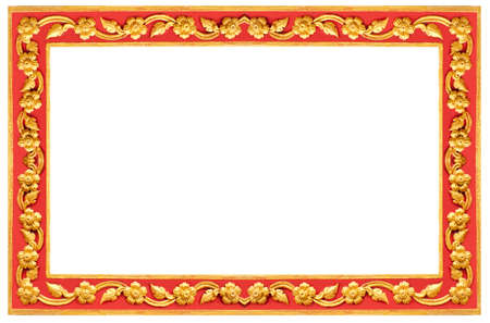 Thai Frame, Thai Style Golden And Red Craft Frame Painted Flowers ...