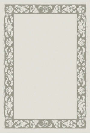 cover: paper frame, formal letter paper with Thai nice frame style Stock Photo
