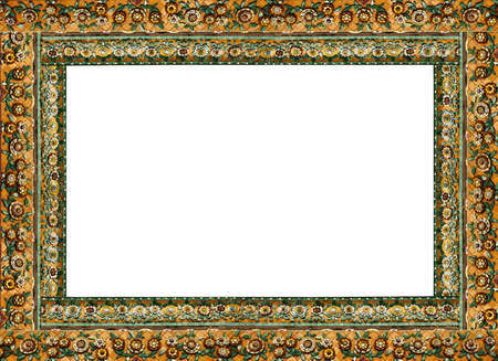 Thai Frame, Carving Golden Wood Decorated In Thai Style Door.. Stock ...