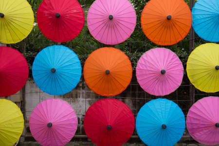 umbrellas, colorful umbrellas arranging in rows