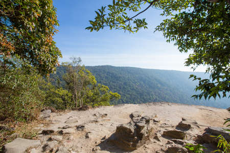 forest view, Thailand forest view from mountain cliff viewpoint Stock Photo