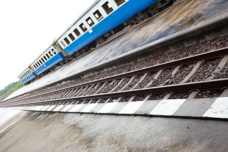 bogie: train bogie, Thailand public train bogie on rail Editorial