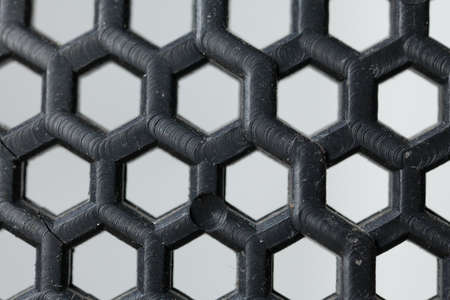 hexagon plastic, close-up to texture surface of hexagon plastic net screen sheet  photo