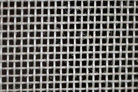 close-up to texture surface of wire window screen with tiny dust photo
