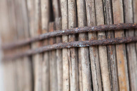 rusty wire: rusty wire, close-up to surface texture of rusty wire  Stock Photo
