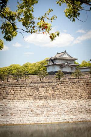 turret: osaka castle turret, the north turret of Osaka castle, Osaka, Japan Editorial