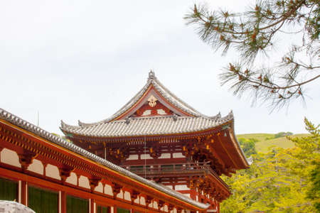 MAY17,2014 Todaiji Temple, The red building showing structure of Todaiji Temple, Nara, Japan