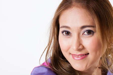 Beautiful girl, Portrait of beautiful Asian woman pose showing nice hair photo