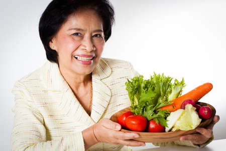 dietician: dietician woman dietician nutrition with a bowl of vegetable Stock Photo