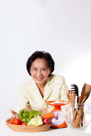 dietician: dietician, woman dietician nutrition with a bowl of vegetable