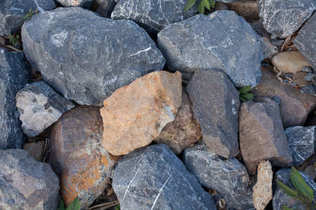 large rocks: large rocks Large stone texture in blue shade colour showing strength Stock Photo