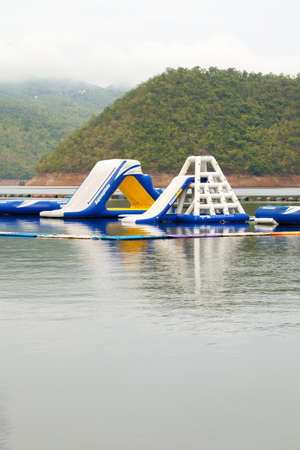 pool hall: water balloon playground, outdoor sport balloon playground floating in the lake