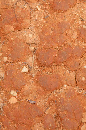 the dirt: Dirt texture, red dry orange showing texture of dirt Stock Photo