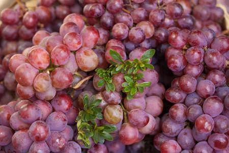 dalat: red grape decorated put on sell in fresh market, Dalat,Vietnam