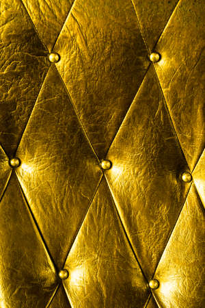 Vintage padding, Texture of gold vintage padding cushion.