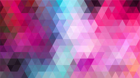 Vector photo of multi pink tone colour in repeated triangle shape abstract. Illustration