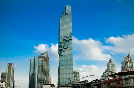 BANGKOK, THAILAND - AUGUST 28, 2016 : Bangkok new modern building locates in Business area, Mahanakhon Tower, the highest building in Bangkok, Thailand.