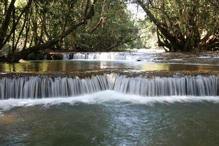 Takian Thong Waterfall, Kanchanaburi Province, Thailand. Stock Photo