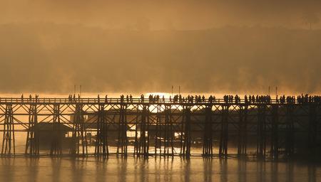 Mon Bridge, Sangkhlaburi District, Kanchanaburi Province,Thailand.