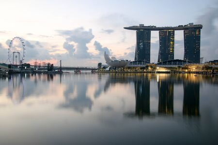 Singapore - JULY 9, 2017 : Singapore city downtown at morning. Editorial