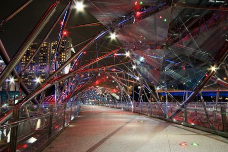Singapore - JULY 8, 2017 : Helix Bridge singapore travel landmark.
