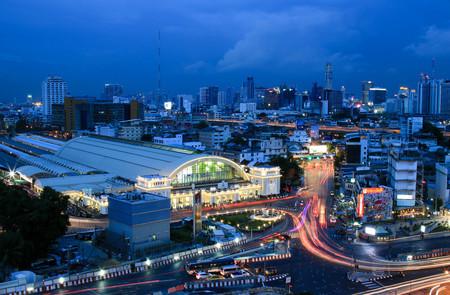 BANGKOK, THAILAND - 29 JULY, 2017 :  Bangkok city skyline Hua Lamphong station Bangkok railway station Thailand. Editorial