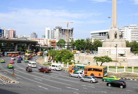 BANGKOK, THAILAND - JULY 30, 2017 : View of the Victory Monument the big military monument.