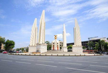 BANGKOK, THAILAND - JULY 30, 2017 : Democracy Monument, Public Monument in Centre of Bangkok.
