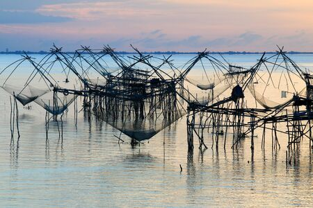 Sunrise at Pakpra,Talay noi Lake, Phatthalung Province, Thailand.