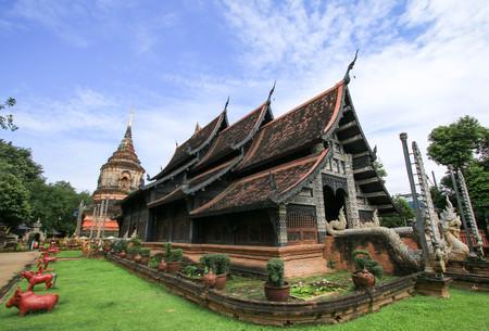 Lokmolee temple, chiangmai province, thailand Stock Photo