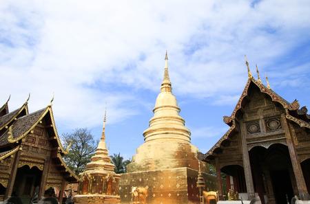 Wat Phra Singh Woramahaviharn. Buddhist temple in Chiang Mai Thailand.