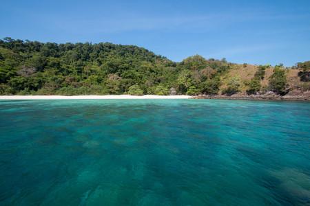 Zedetkyikyun Island in Myanmar. Stock Photo