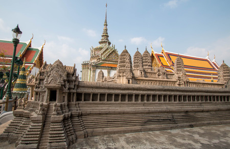 Model of Angkor Wat at Wat Phra Kaew, Bangkok, Thailand. Stock Photo - 99378774