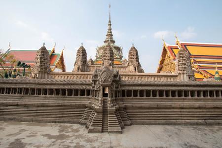 Model of Angkor Wat at Wat Phra Kaew, Bangkok, Thailand. Stock Photo - 99378775